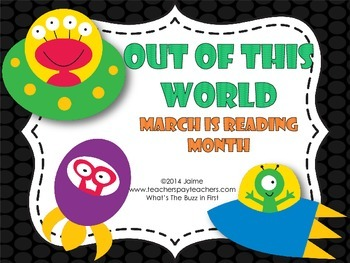 March is Reading Month Space Theme Fun
