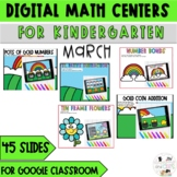 March l Digital Math Activities Kindergarten- Google