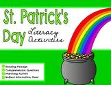 March l St. Patrick's Day l Saint Pat's l Reading Comprehension Passage l Spring