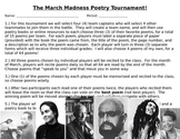 March madness Poetry Competition!