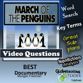 Movie -  March Of The Penguins Video Questions, Vocab and Word Search