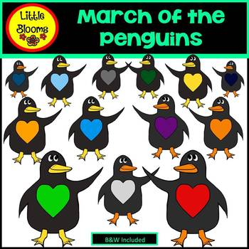March of the Penguins Clip Art (FREEBIE!)