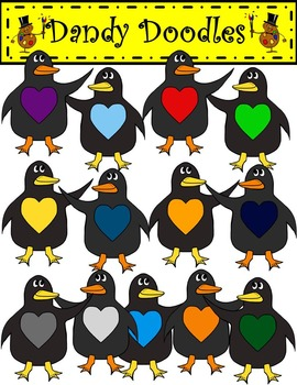 March of the Penguins FREEBIE Clip Art by Dandy Doodles
