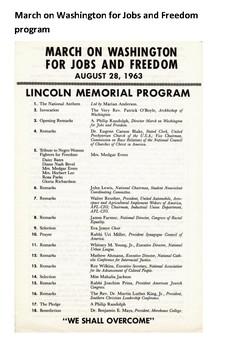 March on Washington 1963 Word Search