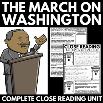 March on Washington - Black History - Information, Questions, Poster Project
