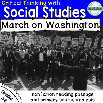 March on Washington Reading Passage and Primary Source Photo