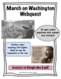 March on Washington Webquest (I have a Dream, Martin Luther King Jr)