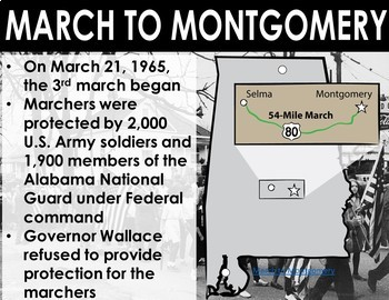 Civil Rights Movement: March to Montgomery {Freebie!}