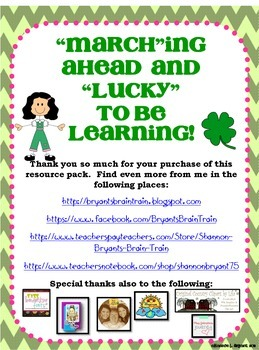 March and St. Patrick's Day Unit