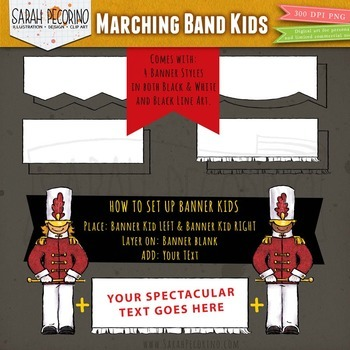 Marching Band Kids Clip Art