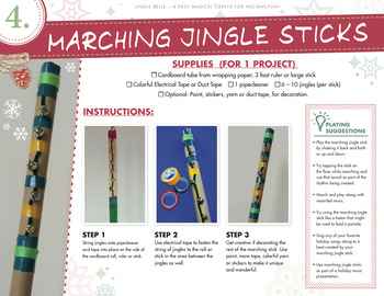 Marching Musical Jingle Sticks