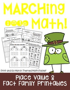 Marching into Math - A March Printable Packet