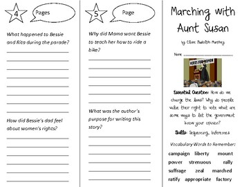 Marching with Aunt Susan Trifold - Open Court 3rd Grade Unit 5 Lesson 5