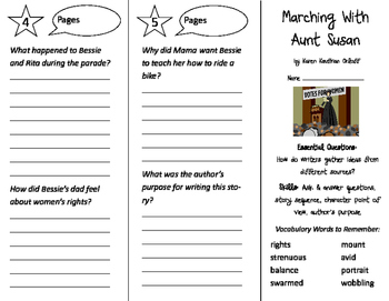 Marching with Aunt Susan Trifold - ReadyGen 2nd Grade Unit 3 Module A