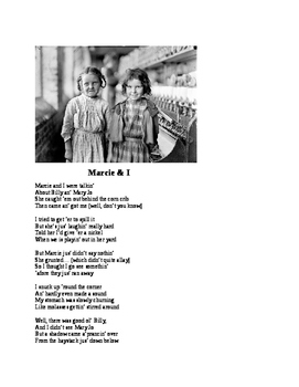 """""""Marcie & I"""" Tribute to Lewis Hine [A Poem]"""