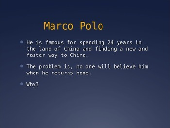 Marco Polo Powerpoint