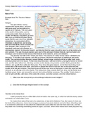 Marco Polo Primary Sources w/ Questions