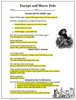 Marco Polo Worksheet
