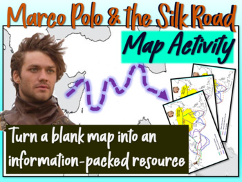 Marco Polo & the Silk Road Map Activity: Fun, engaging fol