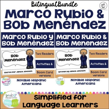 Marco Rubio & Bob Menéndez Readers {Hispanic Heritage Month} Bilingual version