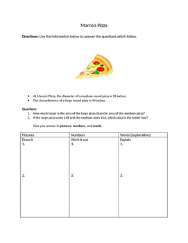 Marco's Pizza - Leveled Compare Circle Area