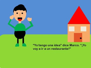 Marco y la Comida Perfecta (Spanish story using directions and restaurant vocab)