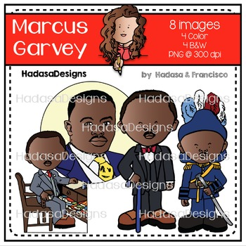 Marcus Garvey Clip Art Mini Combo Pack