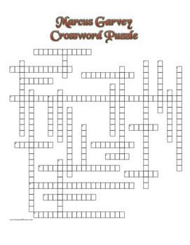 Marcus Garvey Crossword Puzzle Review