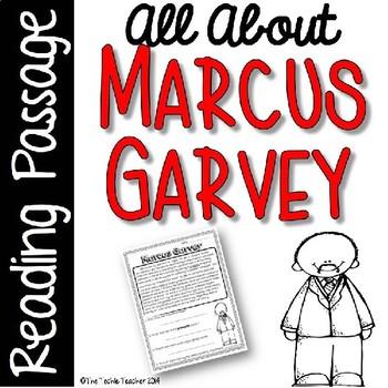 Marcus Garvey Reading Passage