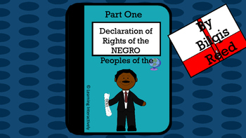 Marcus Garvey and Declaration of Rights of Negroes