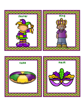 Mardi Gras Roll a Syllable Dice Game