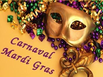 Mardi & Carnaval French Vocablary PowerPoint presentation
