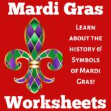Mardi Gras | Worksheet Craft Activity | Kindergarten 1st 2