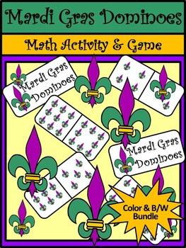 Mardi Gras Activities: Mardi Gras Dominoes Math Game Activity