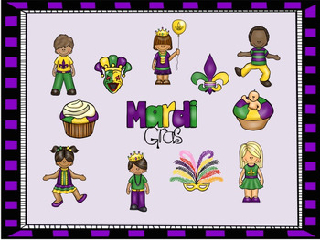 Mardi Gras - A Game to Practice Treble Clef Notation
