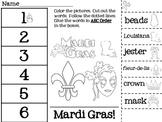 Mardi Gras ABC Order Cut & Paste Printable--FREEBIE