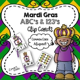 Mardi Gras ABCs & 123s Clip Cards {NO DITTOS}