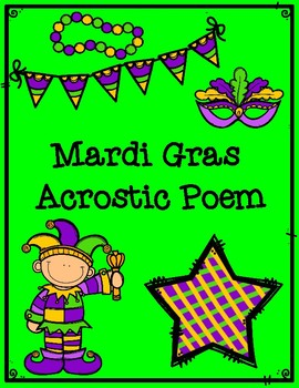 Mardi Gras Acrostic Poem Poetry Recording Form