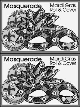 Mardi Gras Game Activities: Mardi Gras Roll & Cover Activity