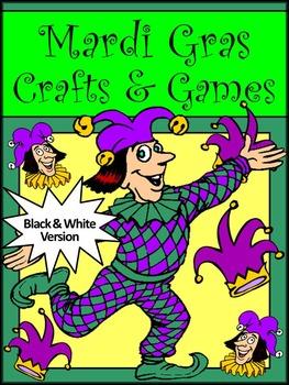 Mardi Gras Activities: Mardi Gras Crafts & Games Activity Packet