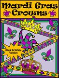 Mardi Gras Party Activities: Mardi Gras Jester's Hat & Crowns Craft Activity -BW