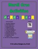 Mardi Gras Activities Packet