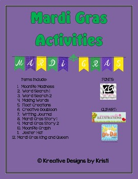 Mardi Gras Activities Packet