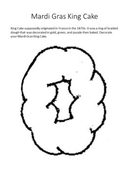 Mardi Gras Writing Activities and Coloring Sheets