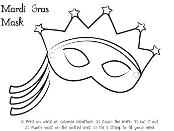 Mardi Gras Activities with mask template!