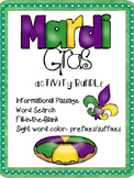 Mardi Gras Activity Pack