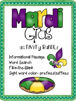 Mardi Gras Activity Pack
