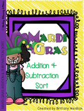 Mardi Gras Addition & Subtraction Sort 0-10