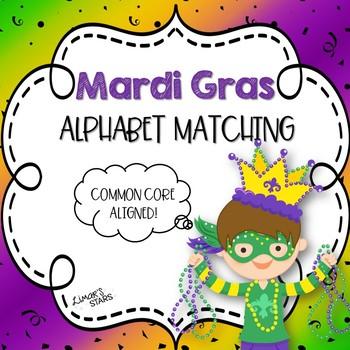Mardi Gras Alphabet Matching