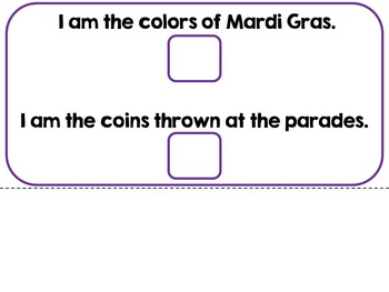 Mardi Gras-An Adapted Interactive Book {SLP, Autism, Special Education}